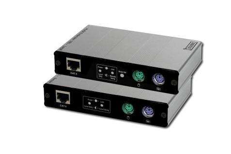KVM Extender PS/2, 1 lokaler + 1 Remote User, bis 180 m (Cat5-UTP), Auflösung 1280X1024 bei 60Hz Digitus® [DC-51102]