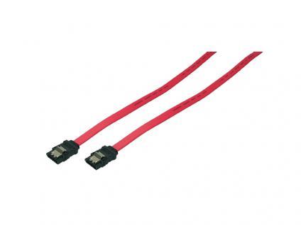 SATA 6 GBit/s Anschlusskabel mit Sicherungslasche, rot, 0, 9m, LogiLink® [CS0008]