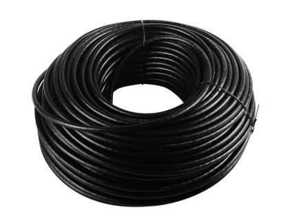 Kabel-Set: CAT 6 U/UTP, 2facher Außenmantel, CCA, schwarz, 305m + Crimpzange + 100x Kabelbinder + 100x RJ45 Stecker