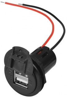 Power USB Doppelsteckdose, mit Deckel, ProCar®