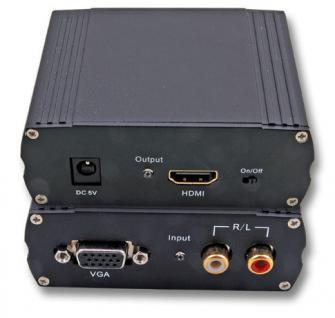 kabelmeister® Konverter VGA und Audio auf HDMI 1.3