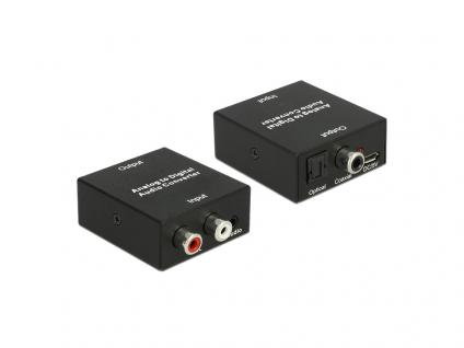 Audio Konverter Analog mit 3, 5mm Klinkenbuchse an Digital mit USB Stromversorgung, Delock® [62724]