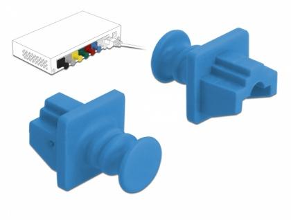 Staubschutz für RJ45 Buchse 10 Stück blau, Delock® [86509]