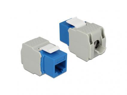 Keystone Modul, Cat.6, RJ45 Buchse an LSA UTP, blau, Delock® [86343]