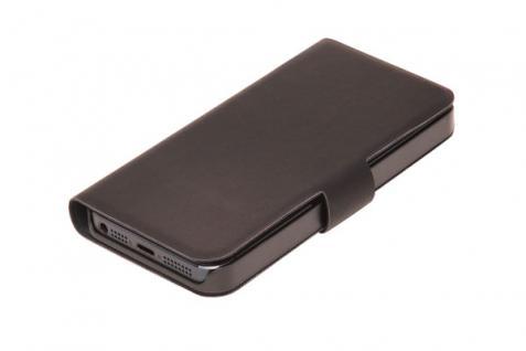 Handytasche für iPhone® 5, Flip, ultra slim mit Magnetverschluss und Kreditkartenfächer, schwarz