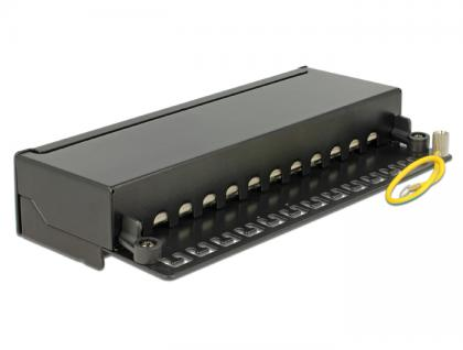 Desktop Patchpanel Cat.6, 12-Port, schwarz, Delock® [87296]