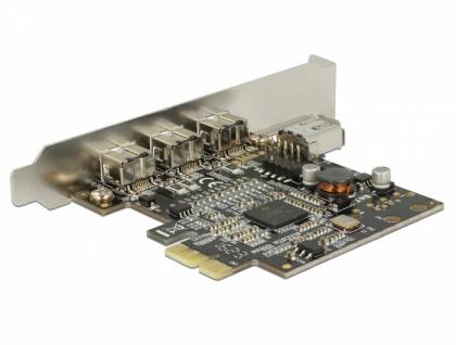 PCI Express Karte > 3 x extern FireWire B + 1 x intern FireWire A , Delock® [89864]