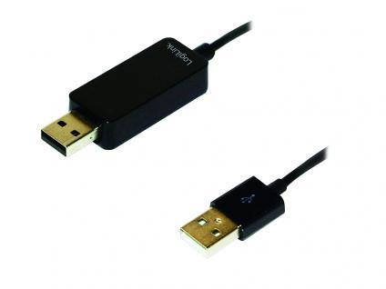 USB 2.0 PC-Link Kabel für PC und Mac, 2x USB A Stecker, LogiLink® [PC0072]