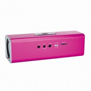 DiscoLady Soundbox mit MP3-Player und FM-Radio, Pink, LogiLink® [SP0038P]