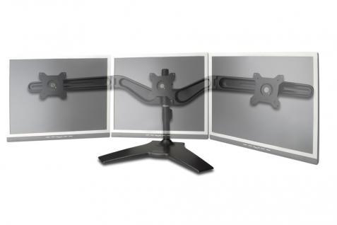 Dreifacher Monitor Halter, schwarz, 20____deg; schwenkbar, 90____deg; rotierbar, 20____deg; neigbar, 15'-24' TFT, max gew. 8Kg Digitus® [DA-90315]