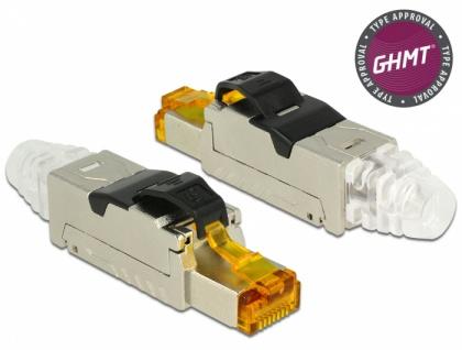 RJ45 Stecker, feldkonfektionierbar, Cat.8.1, Metall, Delock® [86485]