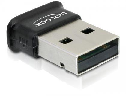 Adapter, USB 2.0 an Bluetooth V4.0 Dual Modus, Ultra-Mini, zur kabellosen Datenübertragung, Delock® [61889]