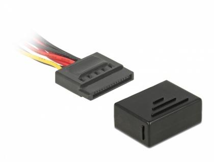 Staubschutz für SATA 15 Pin Buchse, 10 Stück, schwarz, Delock® [64037]