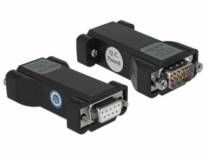 Konverter 1 x Seriell RS-232 DB9 Buchse zu 1 x Seriell TTL / CMOS 5 V DB9 Stecker mit ESD Schutz 3 kV und erweitertem Temperaturbereich, Delock® [8768