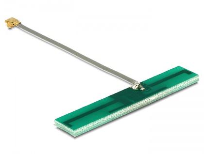 WLAN Antenne WLAN MHF/U.FL-LP-068 kompatibler Stecker 802.11 ac/a/h/b/g/n 3 dBi 50 mm PCB intern selbstklebend, Delock® [86246]