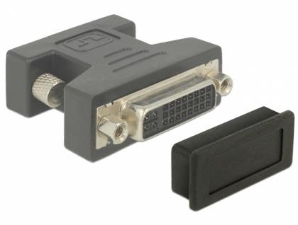 Staubschutz für DVI Buchse, 10 Stück, schwarz, Delock® [60160]
