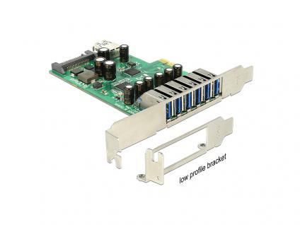 PCI Express Karte mit 6 x extern + 1 x intern, USB 3.0, Delock® [89377]