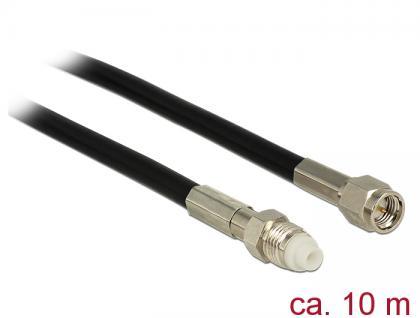 Antennenkabel FME Buchse an SMA Stecker RG-58, schwarz, 10m, Delock® [12451]