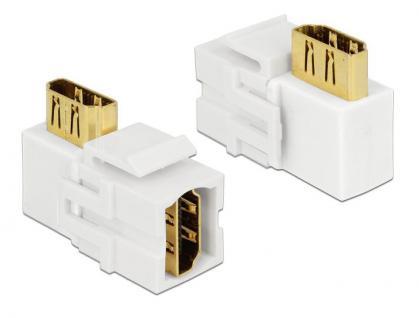 Keystone Modul, HDMI Buchse an HDMI Buchse 90____deg; gewinkelt, weiß, Delock® [86359]