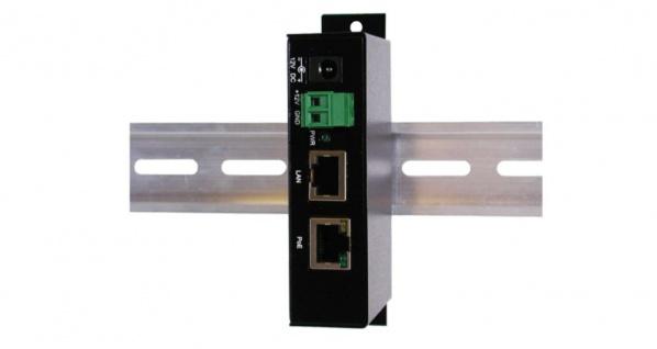 PoE (Power over Ethernet) Gigabit Injektor, bis 12V Terminal Block, inkl. 12V/3A Netzteil, Exsys® [EX-6006PoE]