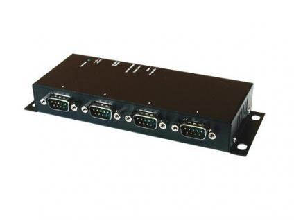 Ethernet RJ45 zu 4 x Seriell RS-232 Data Gateway, Exsys® [EX-6034]