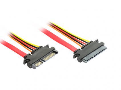 kabelmeister® SATA All-In-One Verlängerungskabel, 30cm