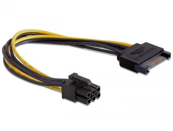 Kabel Power SATA 15 Pin an 6 Pin PCI Express, Delock® [82924]