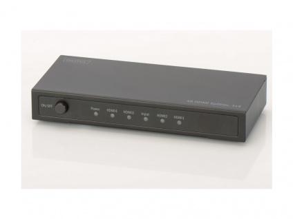 Splitter, 4K HDMI Splitter, 1x4, Digitus® [DS-47304]