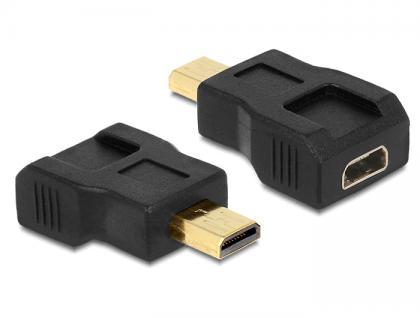 Adapter HDMI micro Stecker D an Buchse, Portschoner, Delock® [65502]