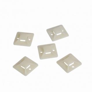 Kabelbinderhalterungen, selbstklebend, Kabelbinderaufnahme: 8 x 1, 9 mm, 100 Stück, LogiLink® [KAB0042]