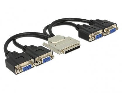 Adapterkabel VHDCI-68 Stecker an 4x VGA Buchse 0, 22m, Delock® [65647]