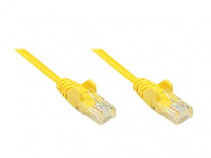 kabelmeister® Patchkabel, Cat. 5e, U/UTP, gelb, 0, 25m