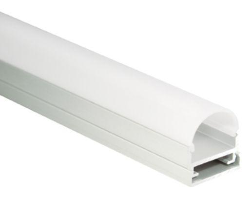 Al-Profil für LED-Leisten, 19, 5 x 20, 3mm, 1, 9m