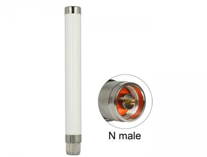 LoRa 868 MHz Antenne N Stecker 1, 89 dBi omnidirektional starr outdoor weiß, Delock® [89633]