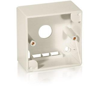 Equip® Aufputzgehäuse für Keystone System, perlweiß