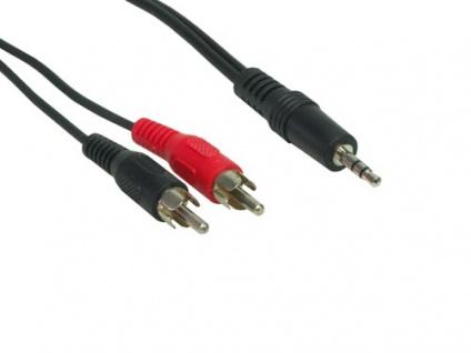 Stereo Verbindung 3, 5 Klinke St / 2 x Cinch St, Länge: 0, 5m, Good Connections®