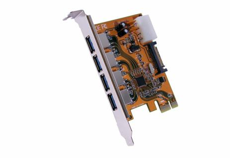 Schnittstellenkarte, USB 3.0 PCI-Express Karte mit 4 Ports (Renesas), Exsys® [EX-11094]