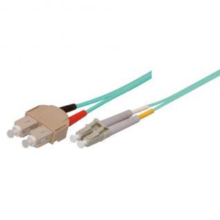 kabelmeister® Patchkabel LWL Duplex OM3 (Multimode, 50/125) SC/LC, 2m