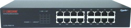 Longshine® Desktop 16-port Switch 10/100, LCS-FS8116-B