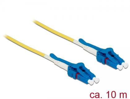 Kabel Lichtwellenleiter LC an LC Singlemode OS2, Uniboot, 10m, Delock® [85087]
