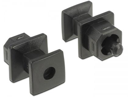 Staubschutz für TOSLINK Buchse, mit Griff, 10 Stück, schwarz, Delock® [64023]