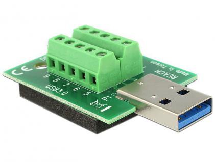 Adapter Terminalblock an USB 3.0 A Stecker mit Pad, Delock® [65639]