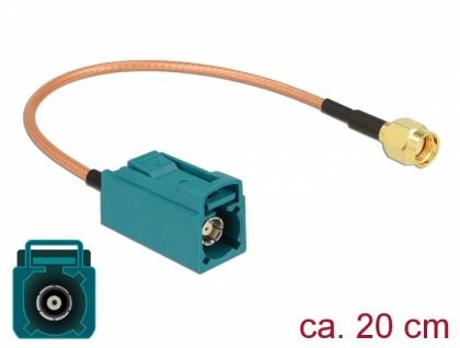 Antennenkabel FAKRA Z Buchse an RP-SMA Stecker RG-316 20 cm, Delock® [89664]