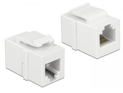 Keystone Modul RJ12 Buchse an RJ12 Buchse Cat.3 weiß, Delock® [86380]