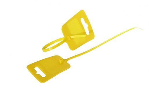 kabelmeister® Kabelbinder, Euroloch und Beschriftungsfeld, RAL 1026, VE 100 Stück, gelb, 4, 8 x 250mm