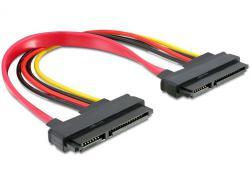 Kabel, SATA 22pin zu 22pin Buchse an Buchse 0, 2m, Delock® [84406]