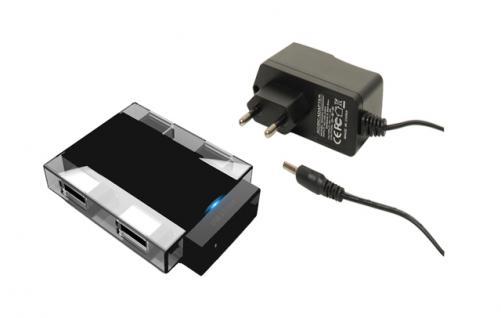 USB 3.0 Hub 4-Port, inkl. Netzteil