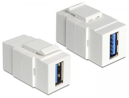 Keystone Jack, USB 3.0 A Buchse an USB 3.0 A Buchse, Delock® [86319]