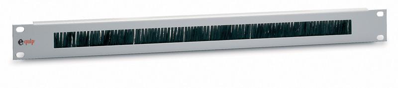 Equip® Kabeldurchführungspanel 19' Schränke, inkl. Bürsteneinsatz, 1 HE, RAL 7035 (Lichtgrau)