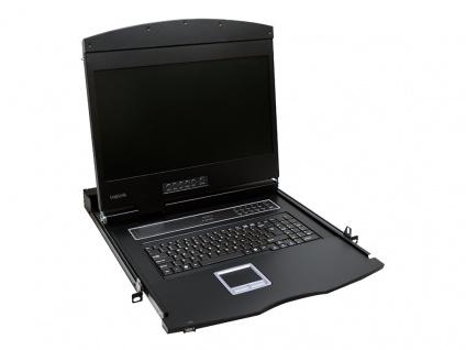 19' LCD KVM Konsole mit 19' TFT Monitor und Tastatur (DE), LogiLink® [LC902GE]